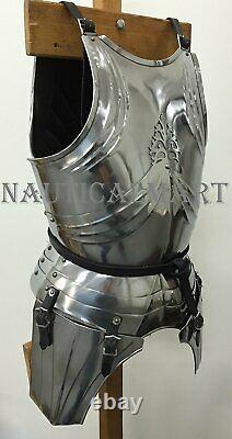 Medieval Knight Renaissance Suit Of Armor Steel Breastplate Halloween Costume
