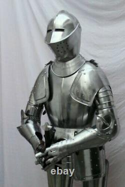 Medieval Knight Suit Of Armor Crusader Combat Full Body Wearable Armour