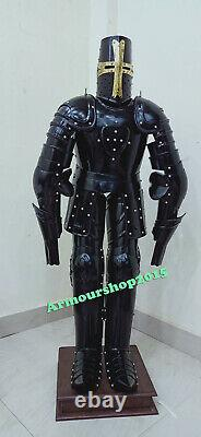 Medieval Knight Suit Of Armor Crusader Combat Home Decorative