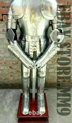 Medieval Knight Suit Of Full Body Armor Stainless Steel Templar Combat Armor SCA