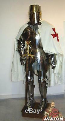 Medieval Knight Suit Of Templar Toledo Armor Combat Full Body Armour