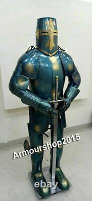 Medieval Knight Suit Of Templar Toledo Armor Combat Full Body Armour Halloween