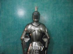 Medieval Knight Suit of Armor 15th Century Combat Full Body Armour With Stand