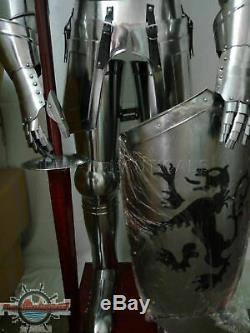 Medieval Knight Suit of Armor 15th Century Combat Full Body Armour shield