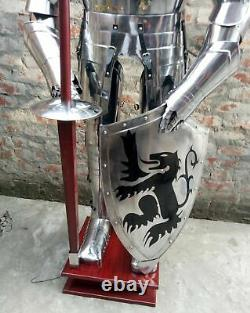 Medieval Knight Suit of Armor 15th Century Combat Full Body Armour shield Lance