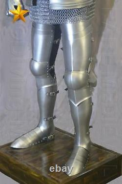 Medieval Knight Suit of Armor 15th Century Gothic Full Armor Suit Replica