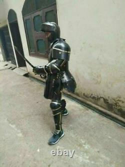 Medieval Knight Suit of Armor Combat Full Body Armor Black Knight Wearable