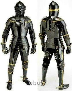 Medieval Knight Suit of Armor Combat Full Body Armour Black Knight Wearable