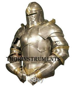 Medieval Knight Suit of Armor Costume LARP Wearable Halloween Costume