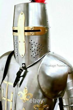 Medieval Knight Suit of Armor & Shields Combat Full Body Armour Suit Halloween
