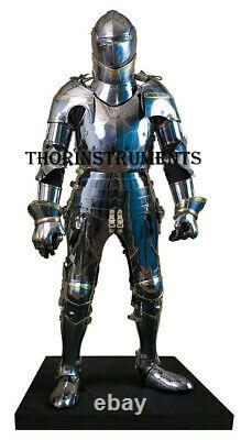 Medieval Knight Suit of Armor Wearable Halloween Body Armor Costume