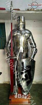 Medieval Knight Suit of Armour Combat Full Body Armour With Stand