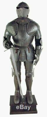 Medieval Knight Suit of Armour Full Size Black Aged Antiqued Finish full body