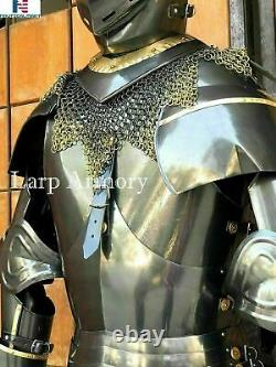 Medieval Knight Suit of Armour Times Costume Wearable Best Party Costume & Gift