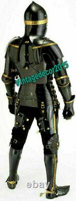 Medieval Knight Suit of Combat Full Body Armour Black Knight Wearable halloween