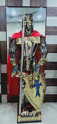 Medieval Knight Suit of Templar Armour Combat Full Body Armour SCA/ LARP