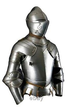 Medieval Knight Suit of Templar Armour Helmet, Chest, Arm Guard Wearable Armor