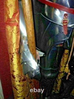 Medieval Knight Templar Armor suit Full Body Armour Costume Reenactment Larp