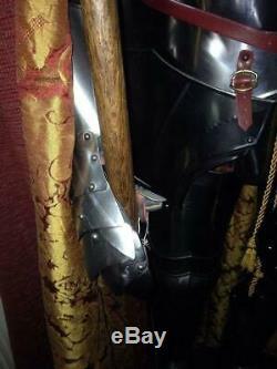 Medieval Knight Templar Armour Suit Battle Warrior Full Body Armour Suit 18 Gaug