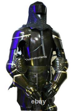 Medieval Knight Templar Armour Suit Battle Warrior Full Body Armour Suit Steel