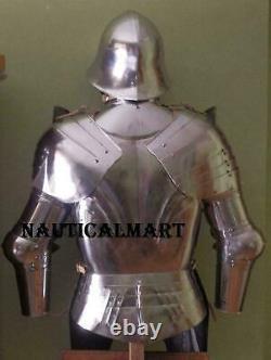 Medieval Knight Warrior Spanish Half Suit Of Armor Cuirass Morion Helmet