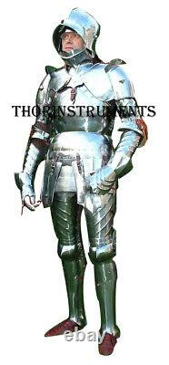 Medieval Knight Wearable English Full Suit of Armor