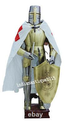 Medieval Knight Wearable Suit Of Armor Crusader Combat Full Body Armour