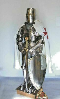 Medieval Knight Wearable Suit Of Armor Crusader Combat Full Body Armour AR20