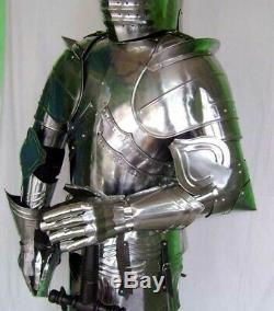 Medieval Knight Wearable Suit Of Armor Crusader Combat Full Body Armour AR24