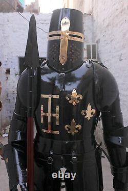 Medieval Knight Wearable Suit Of Armor Crusader Combat Full Body Armour AR25