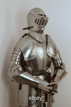 Medieval Knight Wearable Suit Of Armor Crusader Combat Full Body Armour AR27