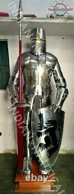 Medieval Knight Wearable Suit Of Armor Crusader Combat Full Body Armour AR32