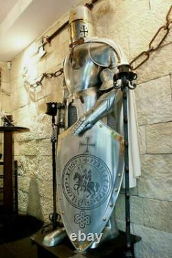 Medieval Knight Wearable Suit Of Armor Crusader Combat Full Body Armour Style