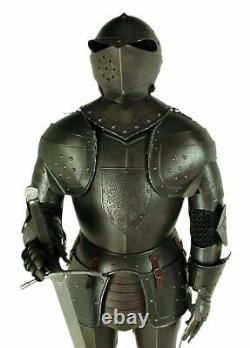 Medieval Knight Wearable Suit Of Armor Crusader Combat Full Body Armour Working