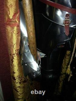 Medieval Knight Wearable Suit Of Armor Crusader Combat Full Body Armour ZA14