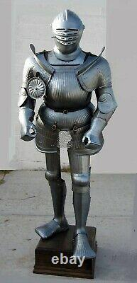 Medieval Knight Wearable Suit Of Armor Crusader Combat Rare Body Armour Costume