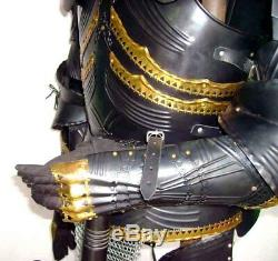 Medieval Knight Wearable Suit Of Armor Crusader Gothic Full Body Armour AC04
