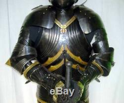 Medieval Knight Wearable Suit Of Armor Crusader Gothic Full Body Armour AC04 Ite