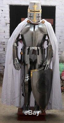 Medieval Knight Wearable Suit Of Armor Crusader Gothic Full Body Armour AC05