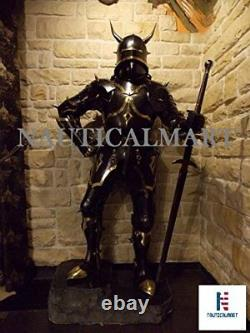 Medieval Knight Wearable Suit Of Armor Crusader Gothic Full Body Armour AC07