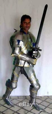 Medieval Knight Wearable Suit Of Armor Crusader Gothic Full Body Armour AG01