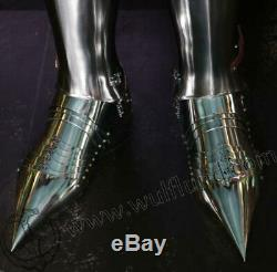 Medieval Knight Wearable Suit Of Armor Crusader Gothic Full Body Armour AG02