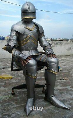 Medieval Knight Wearable Suit Of Armor Crusader Gothic Full Body Armour AG04