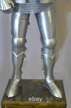 Medieval Knight Wearable Suit Of Armor Crusader Gothic Full Body Armour AG05