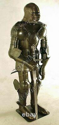 Medieval Knight Wearable Suit Of Armor Crusader Gothic Full Body Armour AG07