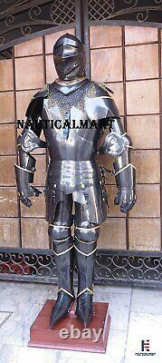 Medieval Knight Wearable Suit Of Armor Crusader Gothic Full Body Armour AG13