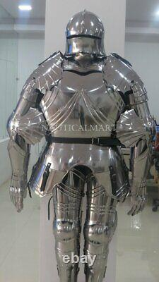 Medieval Knight Wearable Suit Of Armor Crusader Gothic Full Body Armour AG17