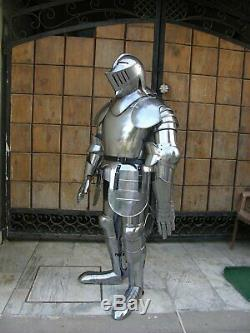 Medieval Knight Wearable Suit Of Armor Crusader Gothic Full Body Armour AG18