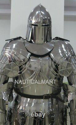 Medieval Knight Wearable Suit Of Armor Crusader Gothic Full Body Armour AG19