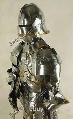 Medieval Knight Wearable Suit Of Armor Crusader Gothic Full Body Armour AGC09